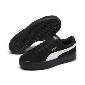 Thumbnail 2 of PUMA Vikky Stacked Women's Trainers, Puma Black-Puma White, medium