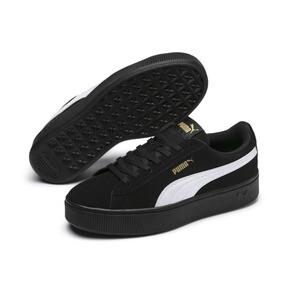 Thumbnail 2 of PUMA Vikky Stacked Suede Women's Sneakers, Puma Black-Puma White, medium