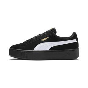 Thumbnail 1 of PUMA Vikky Stacked Suede Women's Sneakers, Puma Black-Puma White, medium