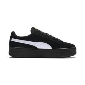 Thumbnail 5 of PUMA Vikky Stacked Suede Women's Sneakers, Puma Black-Puma White, medium