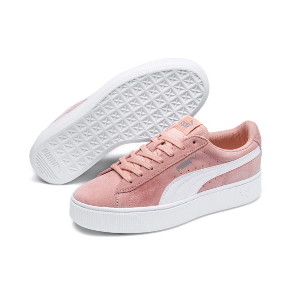 PUMA Vikky Stacked Women's Trainers, Peach Bud-Puma White, large