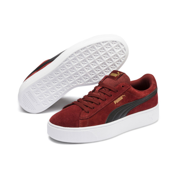 PUMA Vikky Stacked Suede Women's Sneakers, Fired Brick-Puma Black, large