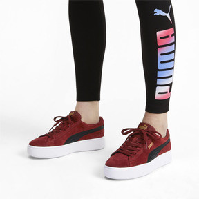 Thumbnail 3 of PUMA Vikky Stacked Suede Women's Sneakers, Fired Brick-Puma Black, medium
