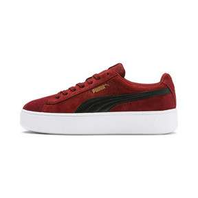Thumbnail 1 of PUMA Vikky Stacked Suede Women's Sneakers, Fired Brick-Puma Black, medium