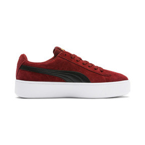 Thumbnail 6 of PUMA Vikky Stacked Suede Women's Sneakers, Fired Brick-Puma Black, medium