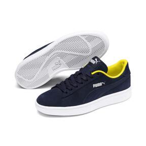 Thumbnail 2 of PUMA Smash v2 Denim Sneakers JR, Peacoat-Puma W-Blazing Yello, medium