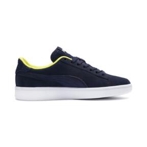 Thumbnail 5 of PUMA Smash v2 Denim Sneakers JR, Peacoat-Puma W-Blazing Yello, medium