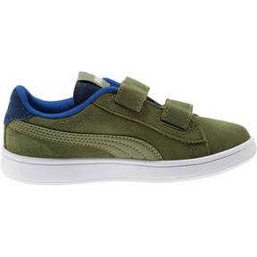 Thumbnail 4 of PUMA Smash v2 Denim AC Sneakers PS, Olivine-Surf The Web, medium