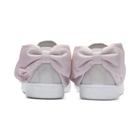 Thumbnail 4 of Suede Bow Hexamesh Women's Trainers, Marshmallow-Pale Pink, medium