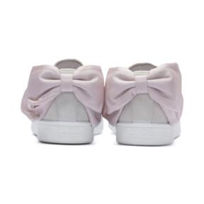 Thumbnail 4 of Basket Suede Bow Hexamesh pour femme, Marshmallow-Pale Pink, medium