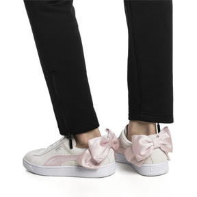 Thumbnail 2 of Suede Bow Hexamesh Women's Trainers, Marshmallow-Pale Pink, medium