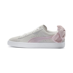 Thumbnail 1 of Suede Bow Hexamesh Women's Trainers, Marshmallow-Pale Pink, medium