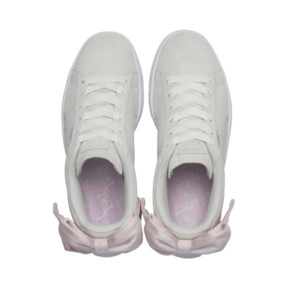 Thumbnail 7 of Suede Bow Hexamesh Women's Trainers, Marshmallow-Pale Pink, medium