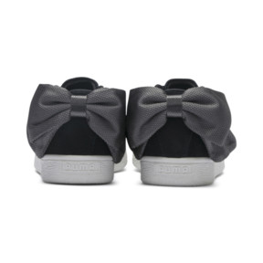 Thumbnail 4 of Suede Bow Hexamesh Damen Sneaker, Puma Black-Dark Shadow, medium