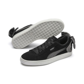 Thumbnail 3 of Suede Bow Hexamesh Damen Sneaker, Puma Black-Dark Shadow, medium