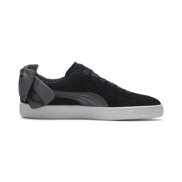 Suede Bow Hexamesh Women's Trainers, Puma Black-Dark Shadow, large