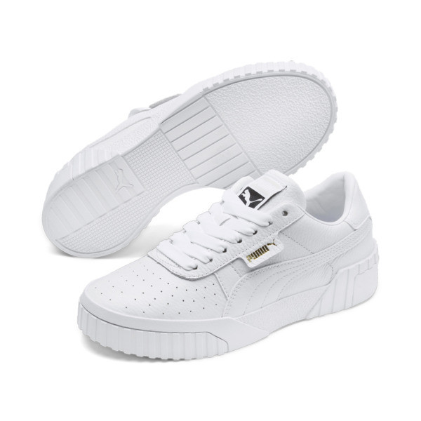 Cali Women's Trainers, Puma White-Puma White, large