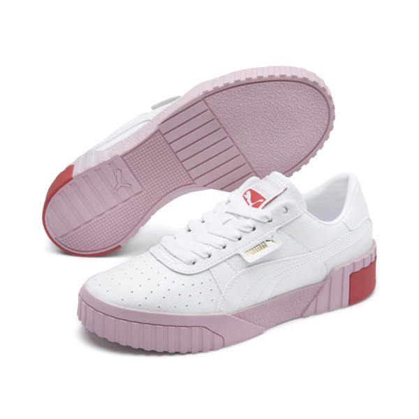 Cali Women's Trainers, Puma White-Pale Pink, large