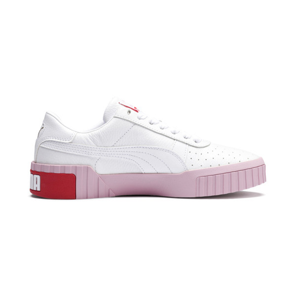 Cali Women's Sneakers, Puma White-Pale Pink, large