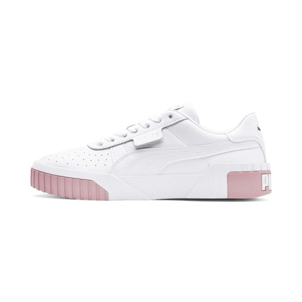 Cali Women's Trainers, Puma White-Rose Gold, large