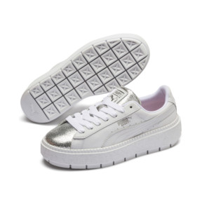 Thumbnail 3 of Basket Platform Trace BioHacking pour femme, Puma White-Puma Silver, medium