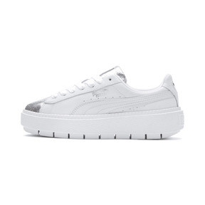 Thumbnail 1 of Basket Platform Trace BioHacking pour femme, Puma White-Puma Silver, medium