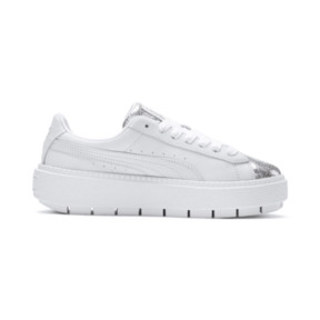 Thumbnail 6 of Basket Platform Trace BioHacking pour femme, Puma White-Puma Silver, medium