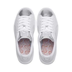 Thumbnail 7 of Basket Platform Trace BioHacking pour femme, Puma White-Puma Silver, medium