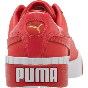 Thumbnail 3 of Cali Nubuck Women's Sneakers, Hibiscus -Puma White, medium