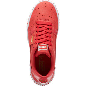 Thumbnail 5 of Cali Nubuck Women's Sneakers, Hibiscus -Puma White, medium