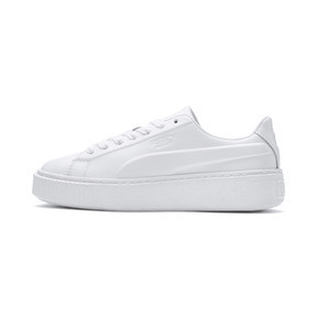 Thumbnail 1 of Platform Seamless Women's Trainers, Puma White-Ponderosa Pine, medium