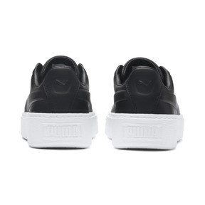 Thumbnail 3 of Platform Seamless Women's Trainers, Puma Black-Puma White, medium