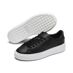Thumbnail 2 of Platform Seamless Women's Trainers, Puma Black-Puma White, medium