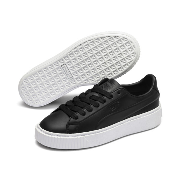 Platform Seamless Women's Trainers, Puma Black-Puma White, large