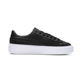 Thumbnail 5 of Platform Seamless Women's Trainers, Puma Black-Puma White, medium