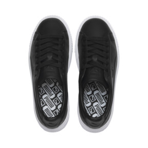 Thumbnail 6 of Platform Seamless Women's Trainers, Puma Black-Puma White, medium