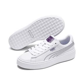 Thumbnail 2 of Basket Platform Twilight Women's Sneakers, Puma White-Sweet Lavender, medium