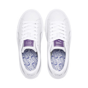 Thumbnail 6 of Basket Platform Twilight Women's Sneakers, Puma White-Sweet Lavender, medium