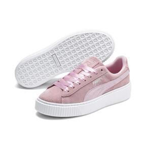 Thumbnail 3 of Suede Platform Galaxy Women's Sneakers, Pale Pink-Puma Silver, medium