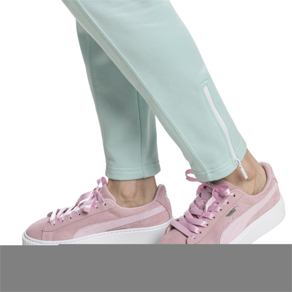 Suede Platform Galaxy Women's Sneakers, Pale Pink-Puma Silver, large