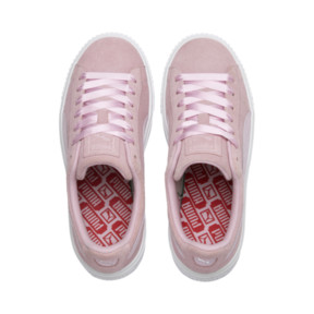 Thumbnail 7 of Suede Platform Galaxy Women's Sneakers, Pale Pink-Puma Silver, medium