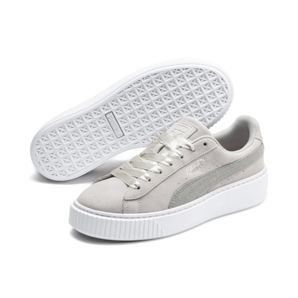 premium selection 54a86 0d4e4 Suede Platform Galaxy Women s Sneakers, Gray Violet-Puma Silver, large