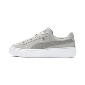 Thumbnail 1 of Suede Platform Galaxy Women's Sneakers, Gray Violet-Puma Silver, medium