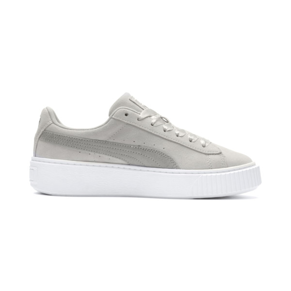 Suede Platform Galaxy Women's Sneakers, Gray Violet-Puma Silver, large
