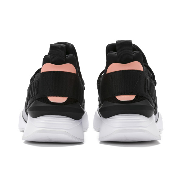 Muse Maia Women's Trainers, Puma Black-Bright Peach, large