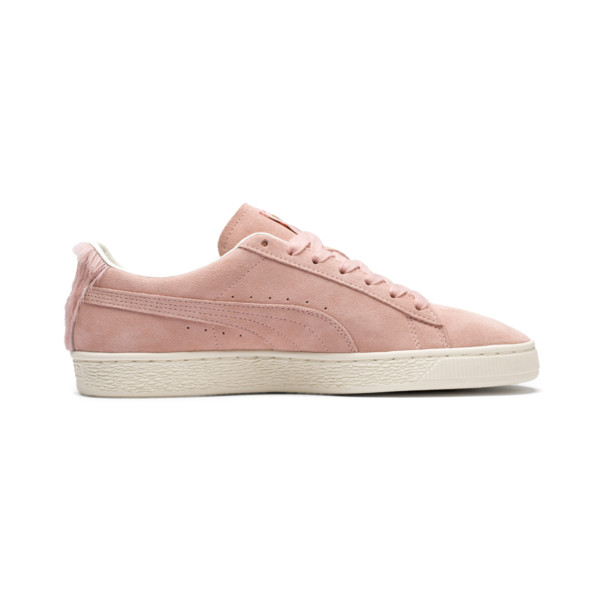Suede Classic Easter sportschoenen voor dames, Coral Cloud-Whisper White, large