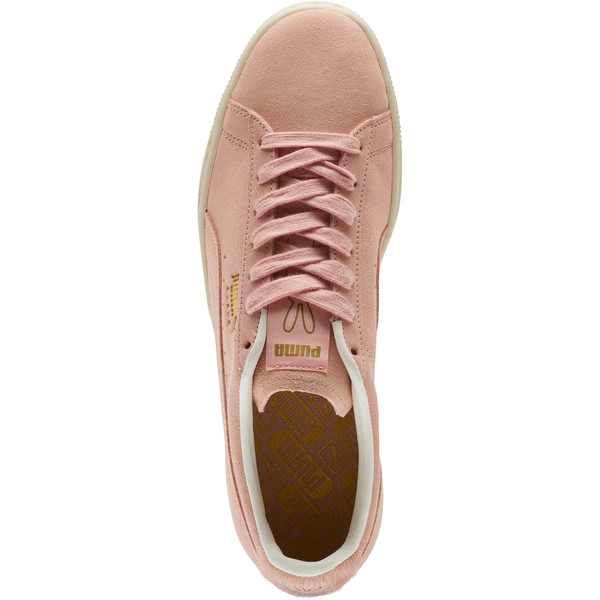 Suede Classic Easter Sneakers, Coral Cloud-Whisper White, large
