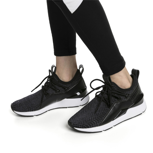 Muse 2 Reptile Trailblazer Women's Sneakers, Puma Black, large
