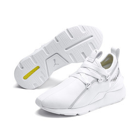Thumbnail 3 of MUSE 2 Trailblazer Women's Trainers, Puma White-Puma Silver, medium