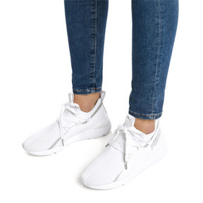 Thumbnail 2 of Muse 2 TZ Damen Sneaker, Puma White-Puma Silver, medium